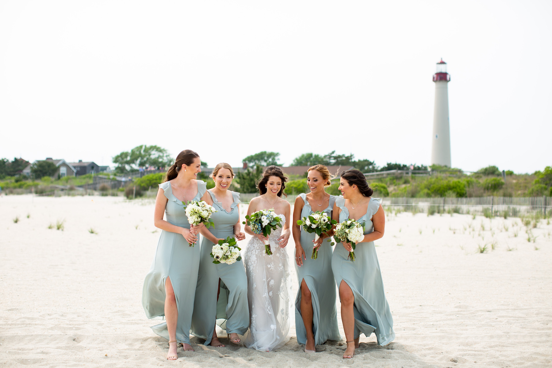 Lovely bride and her gals, by the sea in Cape May